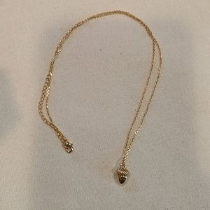 Anthropologie Dainty Acorn Necklace